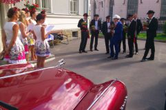 Rent Cars and Buses: GAZ 21 Volga Red